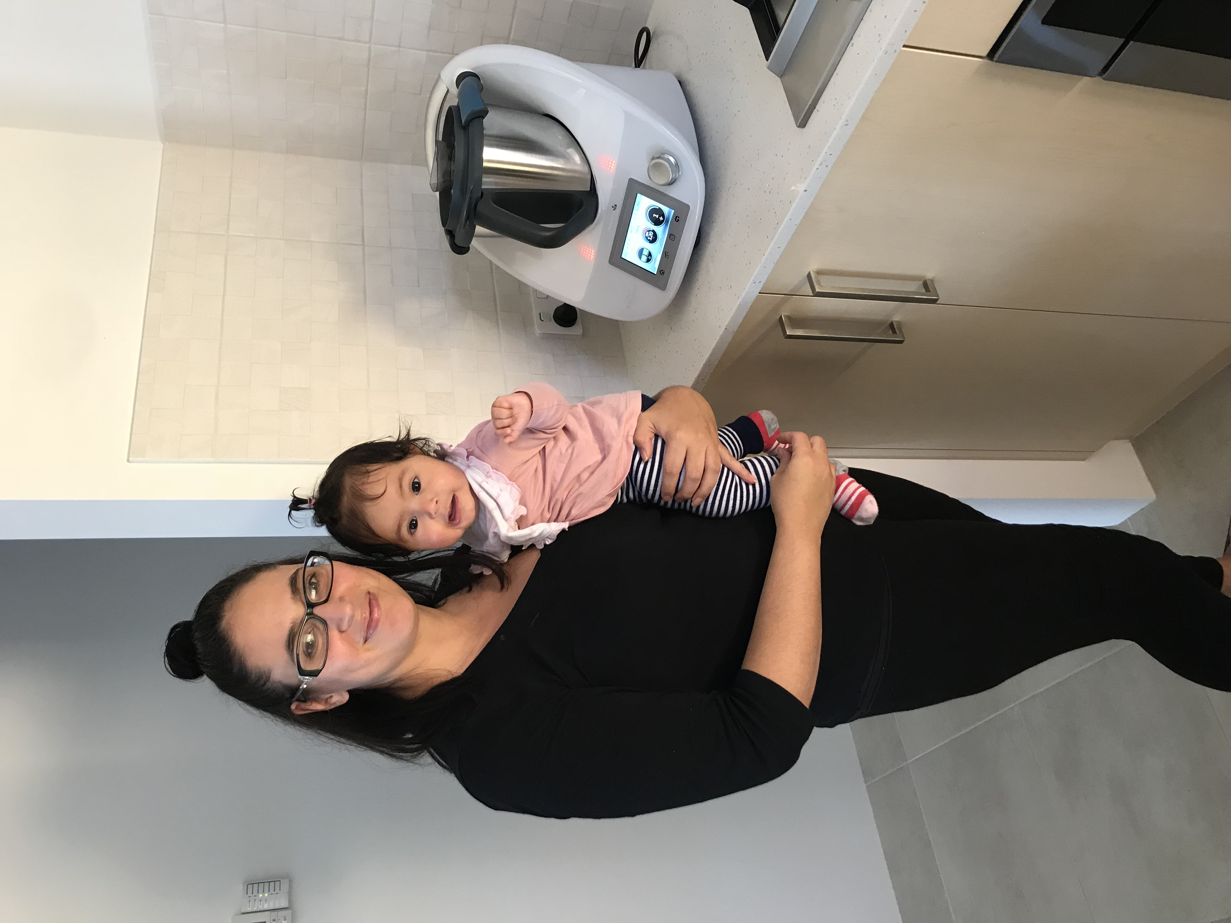 Perth Thermomix consultant delivering a TM5 with her baby